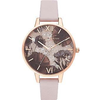 Olivia Burton Ob16sp15 Celestial Rose Quartz, Pearl Pink & Rose Gold Leather Ladies Watch