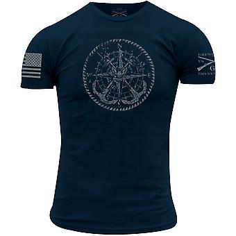 סגנון נהמה USN - וינטאג' מצפן חולצת טריקו - חיל הים
