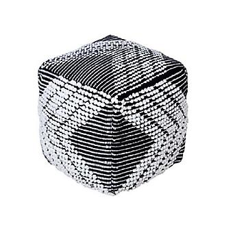 Spura Home Décor Hand Woven Foot-Stools Moroccan King Pouf Soft Seating