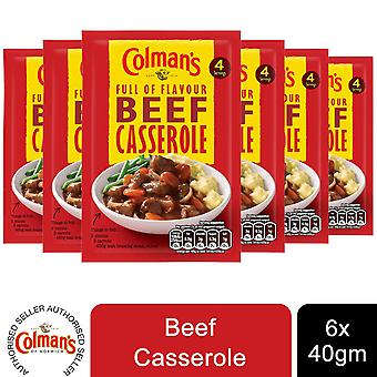 6 Pack Colman's Full of Flavour Beef Casserole Recipe Mix, 50g
