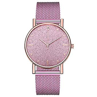 Luxury Watches Women, Quartz Wristwatch, Stainless Steel Dial Casual Bracelet