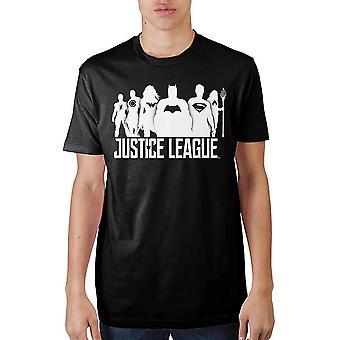 Justice league black soft hand t-shirt