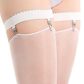 Nya kvinnor elastisk Anti Slip Ben Strumpeband Bälte Lår Hög strumpa hängslören med