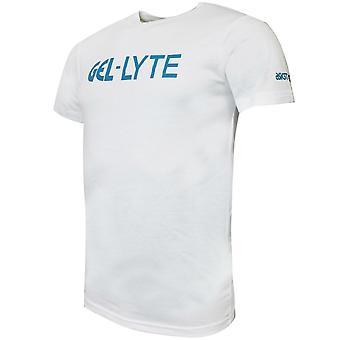 Asics جل-Lyte رجال تي شيرت شعار العلامة التجارية أعلى الأبيض 2191A093 100