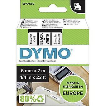Etikettering tape DYMO D1 43613 Tape kleur: wit lettertype kleur: zwart 6 mm 7 m
