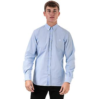 Men's Henri Lloyd Fancy Cotton Regular Fit Shirt en Bleu