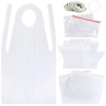 Sntieecr 131 pieces diy tie dye kit, t-shirt fabrics tie-dye kits for kids adult party group, includ