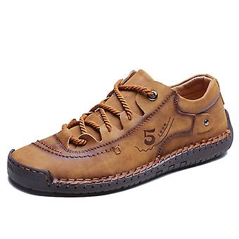 Zapatos de cuero de moda masculina 9931 Marrón