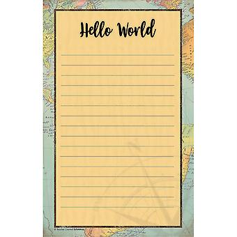 "Travel The Map Notepad, 5.25"" X 8.5"", 50 Sheets"