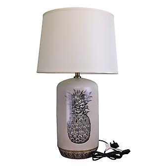Black & White Ceramic Lamp with Pineapple Design 69cm