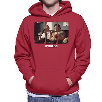 Shaun of the Dead Shaun And Ed Watching TV Men's Hooded Sweatshirt