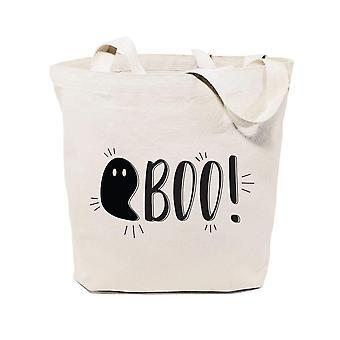 Boo! Borsa tote in tela di cotone di Halloween