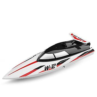 Wltoys Remote Control Boat  High Speed Radio Rc Ship For (red White)