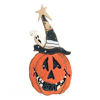 Halloween Decorations DKD Home Decor Wood Pumpkin (18 x 33 cm)