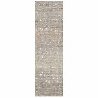 7' Gray Green Abstract Confetti Indoor Runner Rug