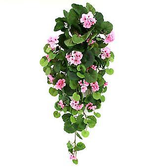 Künstliche hängende Geranium 90cm rosa
