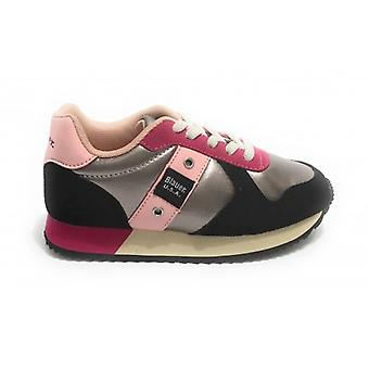 Shoes Blauer Sneaker Lilli In Ecosuede/ Ecopelle Silver/ Fuchsia/ Black/ Pink Z21bu03