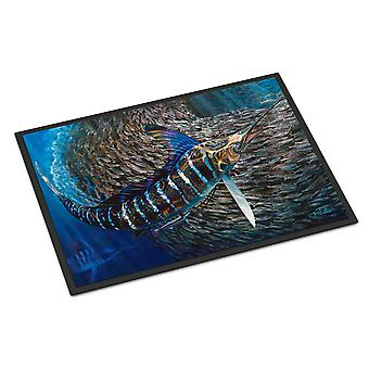 Caroline's Treasures Gem Striped Marlin Tappetino interno o esterno 24x36 zerbini, multicolore