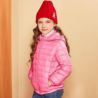Talvi hupullinen's down takit candy väri lämmin lapset alas takit
