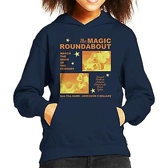 The Magic Roundabout Retro Show Poster Kid's Hooded Sweatshirt