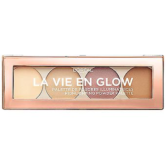 L'Oréal Paris Våkne opp og gløde Beleuchtungs Palett 01 Varm Glød