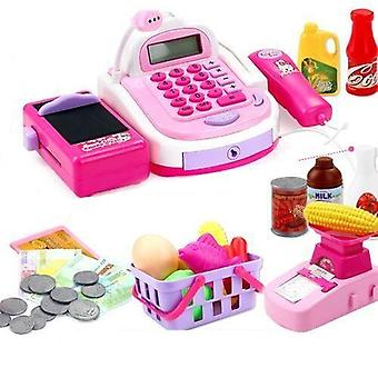Multi-function Electronic Cash Register Supermarket Checkout Counter Toy