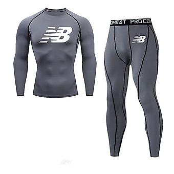 Men's Compression Sports Basketball Leggings Gym Running Clothing
