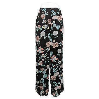 Vince camuto vrouwen ' s broek Floral tuinen Wide-Leg geweven zwart A306691