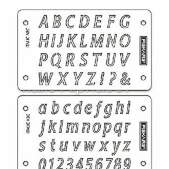 Fiskars Stencil Italic ShapeBoss Stencil