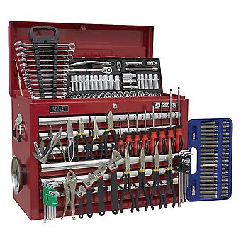Sealey Ap33109Combo Topchest 10 laatikko kuulalaakeri juoksijat punainen & 138pc työkalusarja