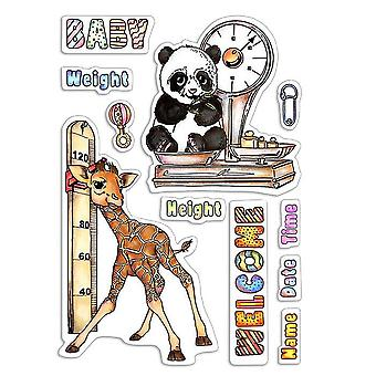 """Ciao Bella 4""""x6"""" Stamps - Baby Height and Weight"""
