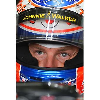 F1 British Grand Prix, Silverstone 2011 Jenson Button McLaren-Mercedes. Large Framed Photo. F1.