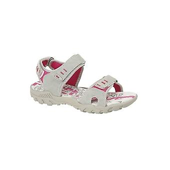 PDQ Sandy Ladies Faux Nubuck Velcro Sports Sandals Grey