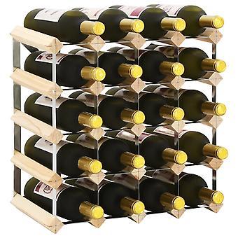 vidaXL étagère à vin pour 20 bouteilles de bois massif pin