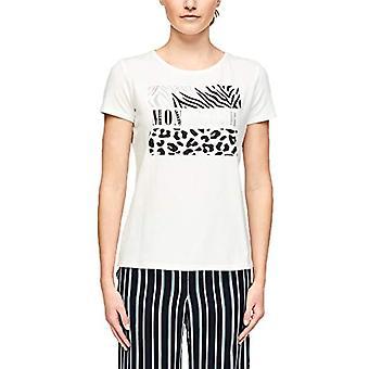s.Oliver BLACK LABEL T-Shirt, White (01D5 Frontprint Mon Amo), 36 Woman