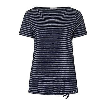 Cecil 314911 Fine Stripe T-Shirt, Deep Blue, X-Small Woman