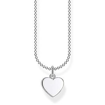 Thomas Sabo, women's heart-shaped necklace, sterling 925 silver, length 38-45 cm(1)
