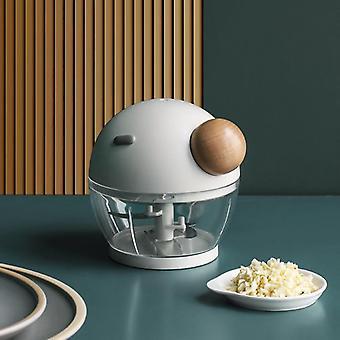 Vegetable Cutter Multifunctional Carrot Slicer Garlic Onion Chopper Kitchen Tool Peeler(White)