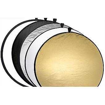 60cm draagbare opvouwbare ronde camera verlichting apparatuur foto licht diffuser met 5 reflectoren