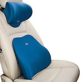 Lannetyynyn sininen korkean tiheyden muistivaahto ergonominen istuimen selkänojatyyny lihaskipuun ja jännityksen lievittämiseen x4958