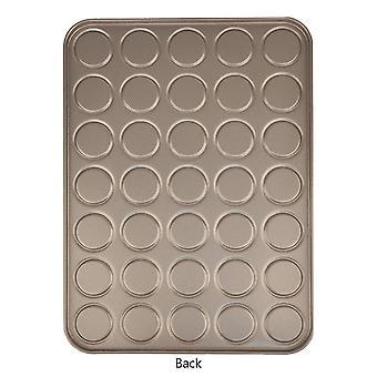 35 Capacity macaron backing sheet cookies pan carbon steel shallow bakeware tray cai387