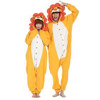 Regenboghorn Yellow Lion Costume Pajama Onesie Kigurumi Jumpsuit Animal Hoodie