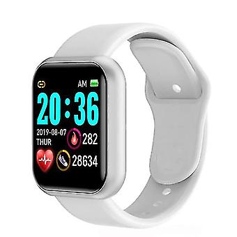 Casual wrist watch femei ritm cardiac monitor ceas inteligent alb