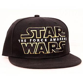 מלחמת הכוכבים השביעי הכוח מעורר את הלוגו הראשי Snapback כובע בייסבול