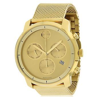 Movado Bold Gold-Tone Stainless Steel Chronograph Mens Watch 3600372
