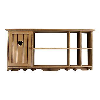 Drewniana ścienna wisząca z szafką & półki