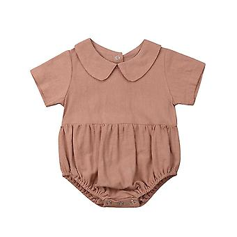 Baby Zomer kleding - Bodysuits Peter Pan Collar Jumpsuits Outfits