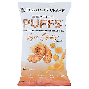 The Daily Crave Puff Vegan Cheddar, Cas de 8 X 4 Oz