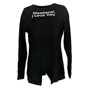 Noen kvinner ' s Top Cozy knit crossover svart A292757