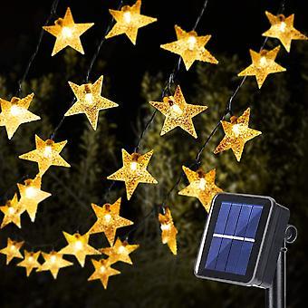 18M Lichterkette Außen Solar, 110 LED Lichterketten Sterne Solar Lichterkette Aussen Solar